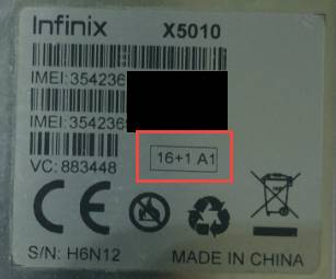 Infinix Smart X5010 16+1A1