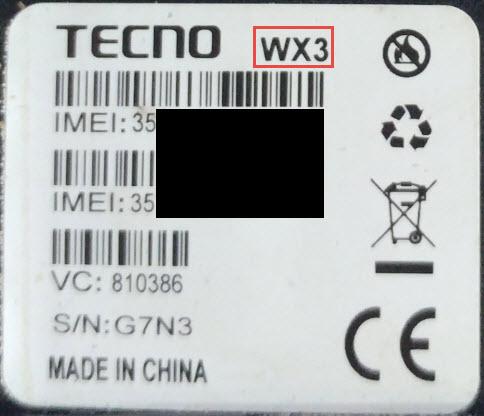 TECNO WX3
