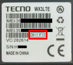 TECNO WX3 LTE 8+1F1